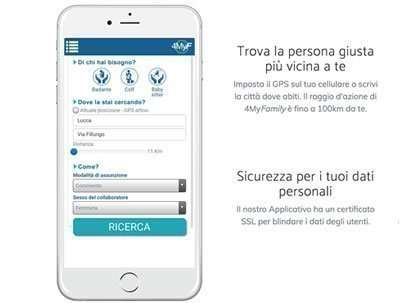 """Sito web """"one page"""" e App: 4MyFamily"""