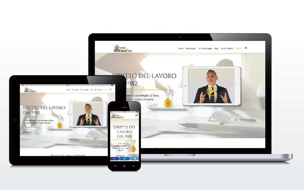 Restyling del sito web + SEO: Studio Legale Tirrito