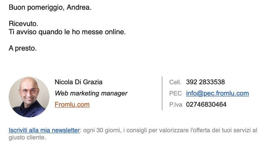 firma email aziendale