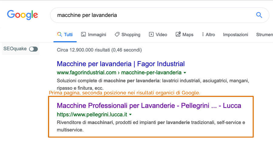 ricerca google seo