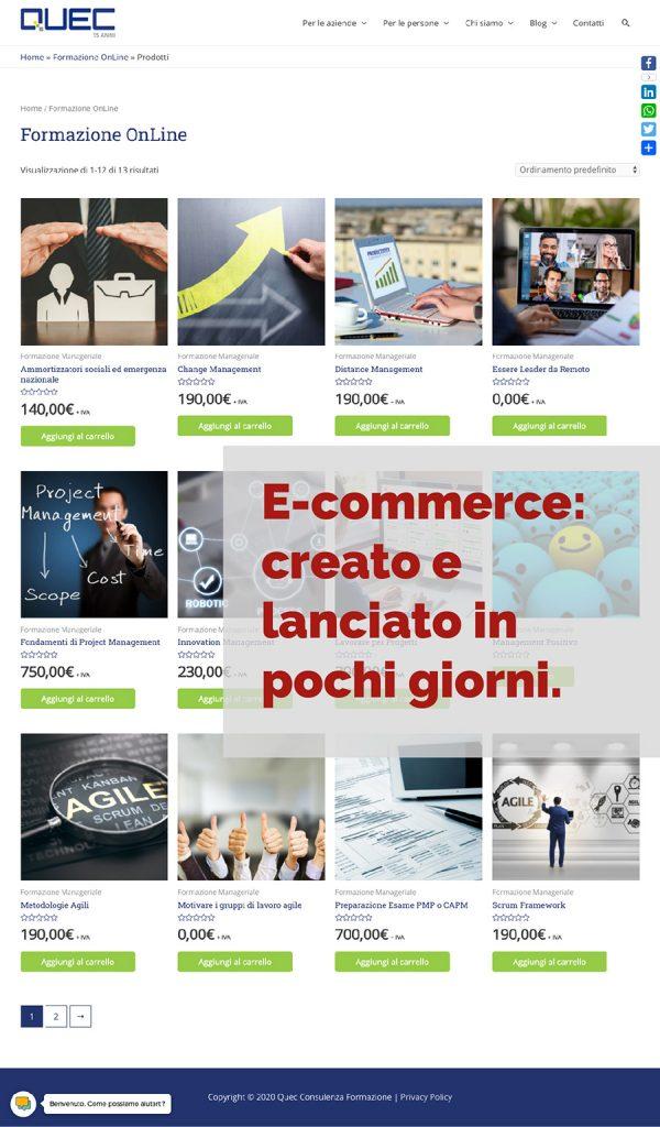 realizzazione e-commerce lucca